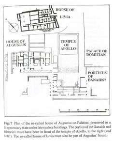 PLAN OF HOUSE OF AUGUSTUS ON THE PALATINE Ancient Rome, Ancient History, Roman Architecture, Roman History, Roman Art, Roman Empire, Villas, How To Plan, House