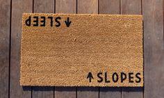 Slopes/Sleep Door Mat (doormat) by Dichotomat on Etsy