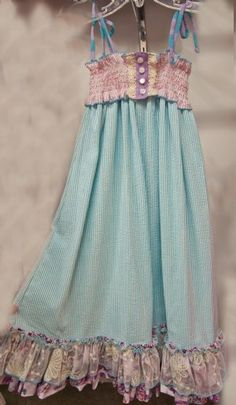 This is a really cute Maxi Dress for a little girl.