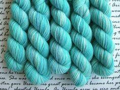 Seashell Mini Skein / Fingering Weight / 75/25 Superwash Wool Nylon Blend Sock Yarn by AstraeaMeris on Etsy