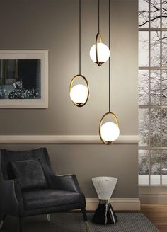 Postmodern Creative Pendant Light - Art Loft Living Elegant lighting for a contemporary style living room room, bedroom, kitchen and dining interiors. This amazing decorative lighting fixture can make your interior design. Get more lighting design ideas Light Art, Living Pequeños, Modern Living, Contemporary Light Fixtures, Contemporary Style, Contemporary Kitchens, Contemporary Chandelier, Contemporary Bedroom, Art Loft