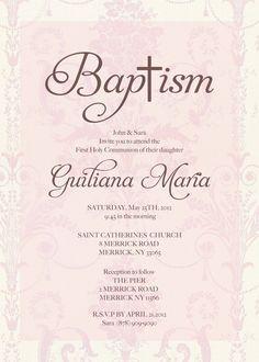 Baptism / Christening / Communion / Dedication by Asapinvites
