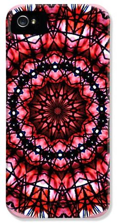 Buy iPhone Case TailSpin Artworks - Red Hot Diamond' Mandala art prints, cell phone cases, greeting cards for sale!