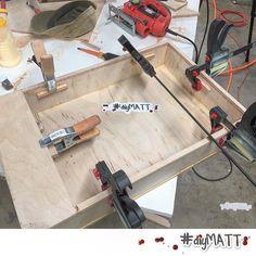 Glueing up a #box shocking I know.  Guess what it's gonna be? #diymatt #mybox #whatsinthebox