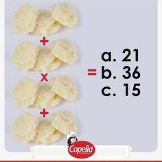 Qué tan bueno eres para los cálculos matemáticos? Dinos la respuesta y #DiviérteteConCopelia www.alimentoscopelia.com