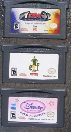Lot of 3 GameBoy Advance Games Elf Spy Kids 3D Disney Princess Royal Adventure