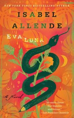 "Eva Luna, by Isabel Allende. Call number PQ8098.1.L54 E813 1988. A woman makes love to an Indian dying of snakebite, miraculously restoring him to life and engendering a daughter named Eva""so she will love life."" Thus begins Allende's latest novel, a magnificent successor to The House of the Spirits and Of Love & Shadows. Set in a Latin American country, it relates Eva's picaresque adventures."