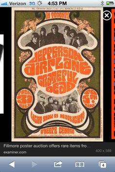 Jefferson Airplane and Grateful Dead appearing in Toronto, Photos by Herb Greene; poster by James Gardner. Thanks for sharing, Professor Poster. Psychedelic Rock, Psychedelic Posters, Hippie Posters, Kunst Poster, Poster S, Vintage Rock, Tour Posters, Band Posters, Movie Posters