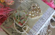 Pearl, Hearts, Valentine, Valentine's Day, Valentine Decor, Decor, Decorations, Decor To Adore, Laura Ingalls Gunn, Pink, ostrich feathers, romance, romantic, shabby chic, antique, white, ivory