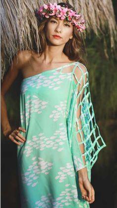 Beach Wahine - Designer Hawaiian Clothing, Jewelry, Swimwear and Accessories - Kaftan Miami dress, $129.00 (http://www.beachwahine.com/whats-new/kaftan-miami-dress/)