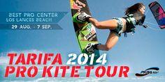El mejor Kitesurf del mundo llega a Tarifa.  El Universo Kiteboard aterriza de nuevo en costas españolas del 30 de agosto al 7 de septiembre con el TARIFA 2014 PRO KITE TOUR. Todos los detalles del Campeonato del Mundo de Kitesuf en Wiquot.