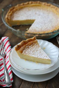 This Eggnog Chess Pie is a holiday version of the classic recipe. Your family will love it!