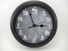 PERSONALIZED Science Periodic Table CHEMISTRY Teacher's Wall CLOCK by ClockaDoodleDew on Etsy https://www.etsy.com/listing/213145041/personalized-science-periodic-table
