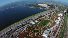 Facebook: An aerial view of Facebook's expanded headquarters in Menlo Park, California.