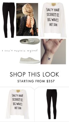 """""""Cake by the Ocean (that description tho)"""" by troylerzalfie on Polyvore featuring Wildfox, J Brand, Vans, women's clothing, women's fashion, women, female, woman, misses and juniors"""