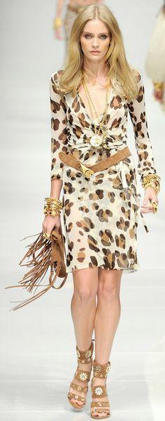 Blumarine Spring spring 2011/12 Ready-To-Wear Animal Print Dress