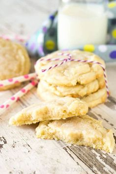 Hints on how to get the thickest, softest, bakery-style sugar cookies. It's the best sugar cookie recipe around!