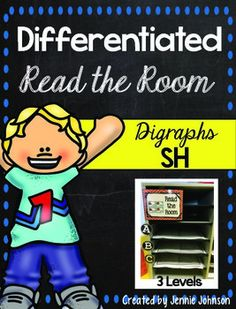 SH Differentiated Read the Room - With purchase you receive 20 SH word cards and two different choice for a front and back cover. See the preview file for a sample. 12 pages $ Great for Kindergarten, 1st, and 2nd grade students!