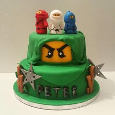 Lego Ninjago theme birthday cake - Cake by Wendy
