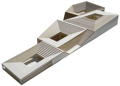 Concept model, designed by Rafi Segal, Matan Mayer, and Yonatan Cohen. Concept Architecture, Landscape Architecture, Interior Architecture, Maquette Architecture, Landscape Model, 3d Modelle, Arch Model, Concept Diagram, Modelos 3d