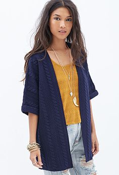 Textured Knit Cardigan | FOREVER21 - 2055879986