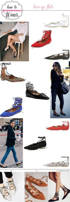 How to wear :: Lace Up Flats