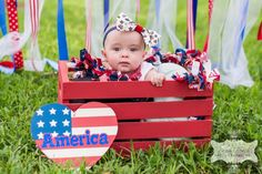 Peek-a-boo! A 4th of July baby