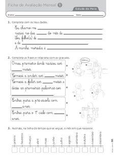 Fichas avaliação mensal 2º ano