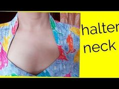 Halter neck cutting and stitching in hindi - Pin Trends Chudidhar Neck Designs, Neck Designs For Suits, Sleeves Designs For Dresses, Blouse Neck Designs, Collar Designs, Blouse Styles, Collar Neck Dress, Collar Kurti, Boat Neck Kurti