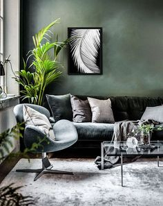 green living room design home decor The post 45 Cozy Green Livingroom Ideas appeared first on Dekoration. Living Room Green, Green Rooms, My Living Room, Interior Design Living Room, Living Room Designs, Living Area, Green Walls, Budget Living Rooms, Modern Living Room Colors
