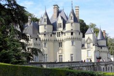 "Chateau d'usse castle aka ""Sleeping Beauty Castle"" in Loire Valley, France (author was inspired to write the famous fairy tale while staying here in the 17th century )"