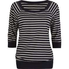 KATIE Stripe Raglan Womens Top ($18) ❤ liked on Polyvore featuring tops, shirts, remeras, sweaters, women, boat neck striped shirt, boatneck shirt, striped boatneck top, horizontal stripe shirt and raglan top