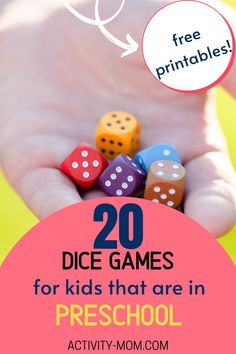 FREE Printable Dice Games for Your Preschooler or Toddler