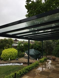 Glass Evolution for website 1 Glass Roof Panels, Outdoor Spaces, Outdoor Living, Bungalow Conversion, Canopy Glass, Glass Extension, Gravel Garden, Bedroom Closet Design, Covered Pergola