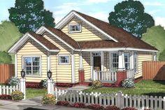 Craftsman Style House Plan - 3 Beds 2 Baths 1381 Sq/Ft Plan #513-2074 Exterior - Front Elevation - Houseplans.com