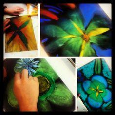 Georgia O'Keeffe pastel flowers