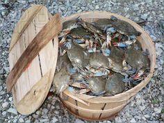 wooden baskets of crabs bushel - Google Search