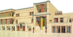 The celebrated palace of Knossos, the most magnificent Minoan monument, residence of the mythical king Minos, was for about three hundred years - from 1650