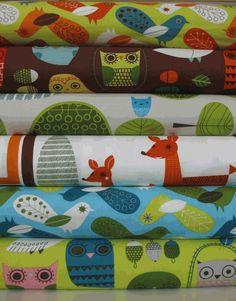 fun woodland fabric!