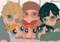 rowdyruff boys and their powerpuff plushies Anime Vs Cartoon, 5 Anime, Cartoon Shows, Cartoon Art, Anime Guys, Anime Art, Art Sonic, Power Puff Girls Z, Anime Version