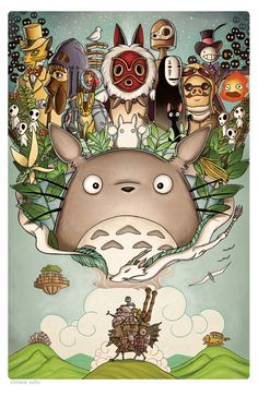 So cute! ChrissieZullo_Miyazaki - http://comicsalliance.com/hire-this-woman-artist-chrissie-zullo/