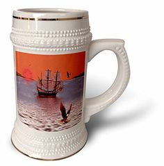 SmudgeArt Flood Art Ship Designs - Sunset At Eagles Nest -SmudgeArt Art - 22oz Stein Mug (stn_6669_1) 3dRose http://www.amazon.com/dp/B0147A0ZAS/ref=cm_sw_r_pi_dp_gN8bwb1XHTWE8