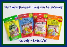 YumEarth Organic Candy for Dad #Giveaway donnahup