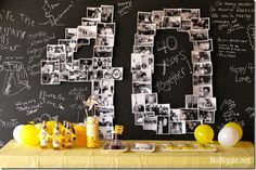Going to do this for my husbands 30th birthday with photos of him throughout the years!