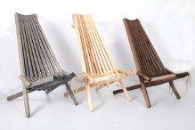 Hvilestole fra Erlefred Design. Indfarvet fyrretræ i grå, sort og brun - se flere træsorter på erlefred-design.dk