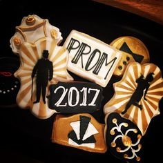 Gatsby Prom Decorated Sugar Cookies
