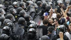 Protesting against G20 meeting. This article talks about the riot that happen in Canada where people were protesting against the G20. It is a very interesting article.