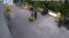 Forklift driver causes propane leak #forklift #osha #forkliftlicense #forklifttraining #forkliftcertification #forkliftlabs #safety