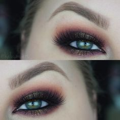"""""""@colourpopcosmetics shadows in Party Girl and Melrose in crease Porter on lid/lower lash line Thirsty Girl on center of lid Crimper in inner corner…"""""""