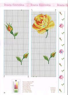 Yellow rose and rose buds Cross Stitching, Cross Stitch Embroidery, Hand Embroidery, Cross Stitch Patterns, Crochet Patterns, Cross Stitch Pillow, Cross Stitch Rose, Cross Stitch Flowers, Rico Design